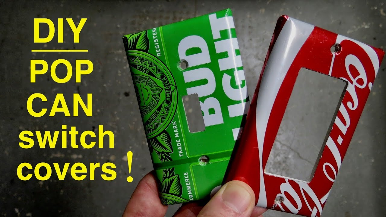 How To Make Light Switch Covers From Beer Cans Youtube