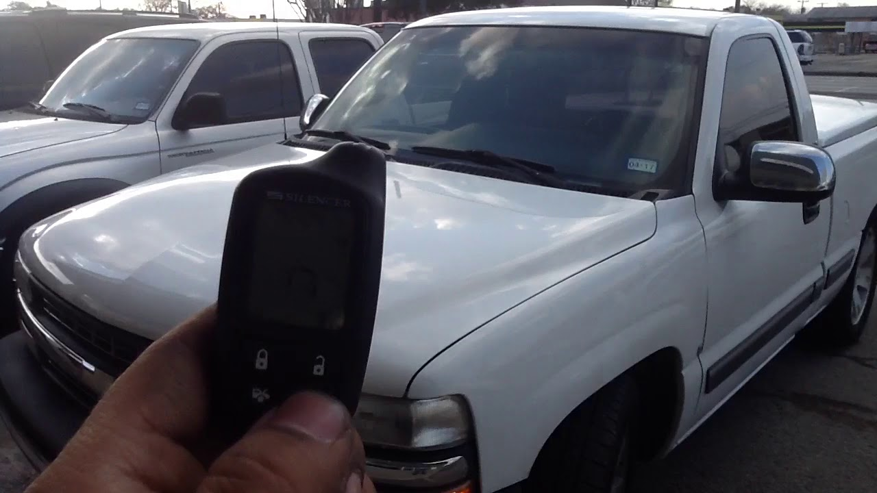 19992002 Chevy Silverado remote start alarm  YouTube