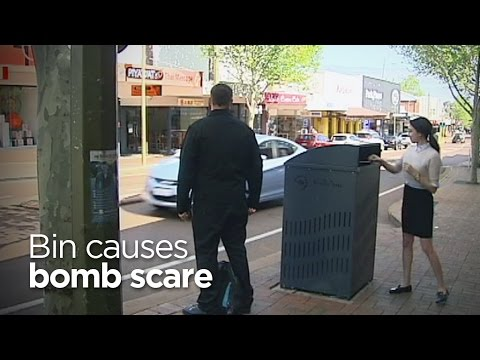 This noisy bin caused a bomb scare in Perth, Australia