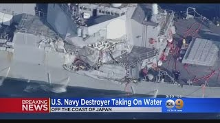 U.S. Navy Destroyer Taking On Water thumbnail