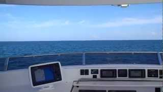 2012-06-13 Navigating from the Flybridge of a Nordhavn trawler