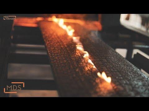 BURNT/CHARRED wood amazing technology   Shou Sugi Ban