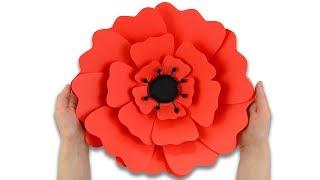 Мак из бумаги своими руками | DIY Большой бумажный цветок