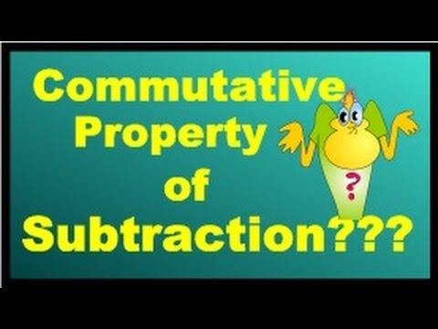 Commutative Property Of Subtraction???
