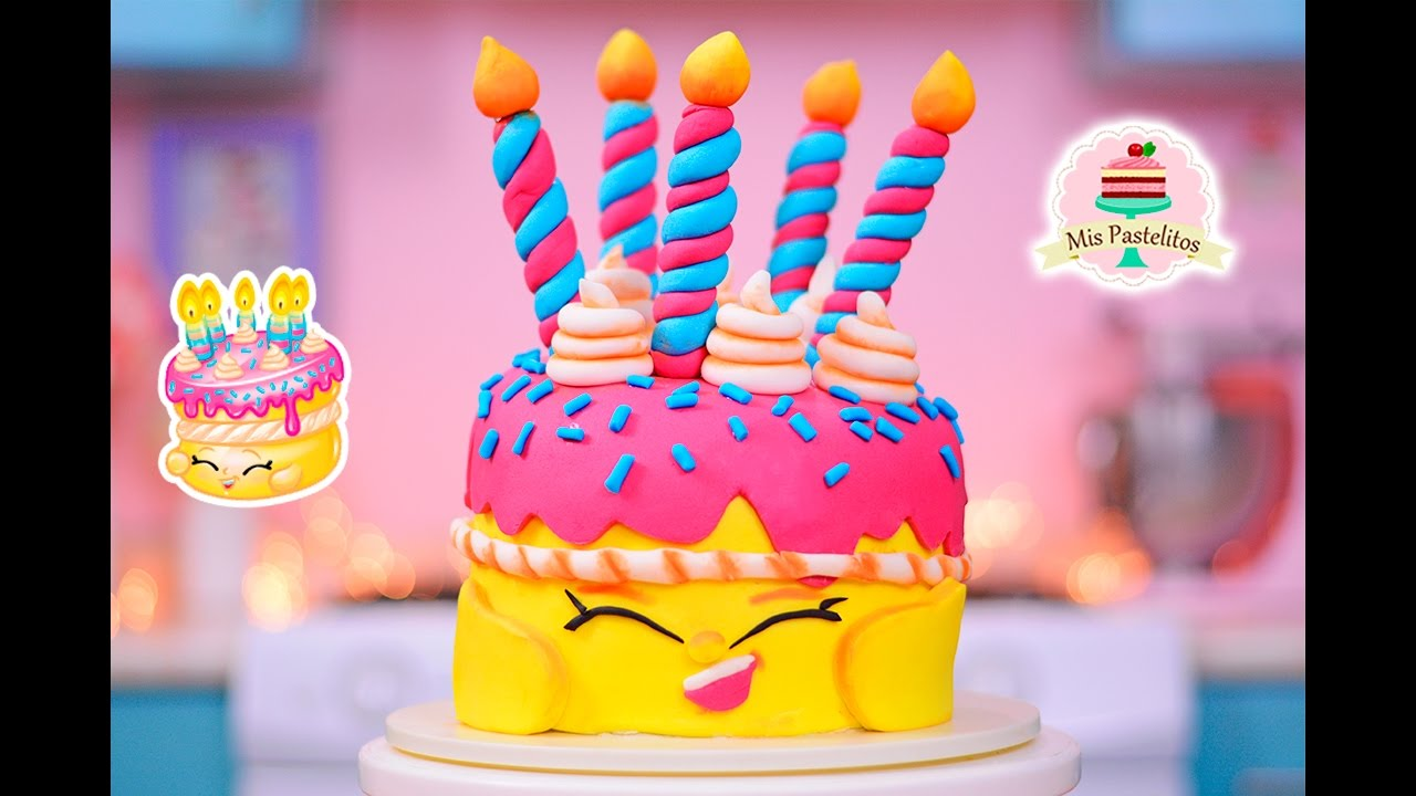 Como decorar un pastel de shopkins wishes mis for Como decorar un bizcocho
