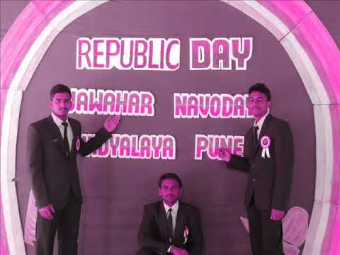 Republic Day celebration,Jan 2016 at JNV Pune