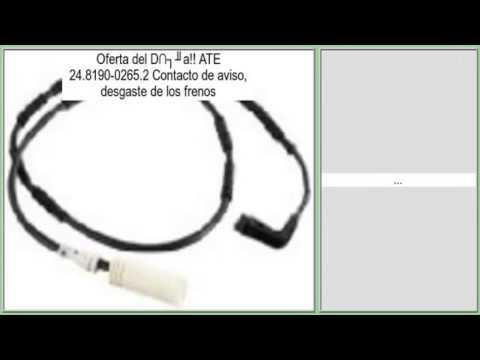 desgaste de los frenos ATE 24.8190-0265.2 Contacto de aviso