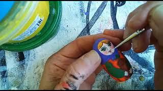 Мастер-класс росписи по дереву«Акулины-матрёшки в русской одёжке» ЧАСТЬ 2