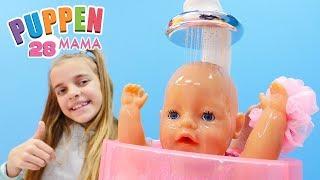 Puppen Mama 28 - Spiel mit Ayça und Rose - Spielzeugvideo für Kinder