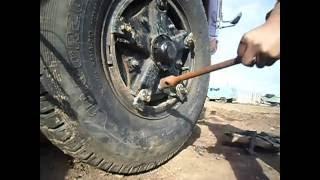 как затянуть ,поставить, устоновить колесо на клиньях ровно камаз