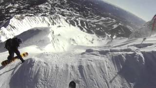 Skiing Schmittys at Big Sky - Big Couloir