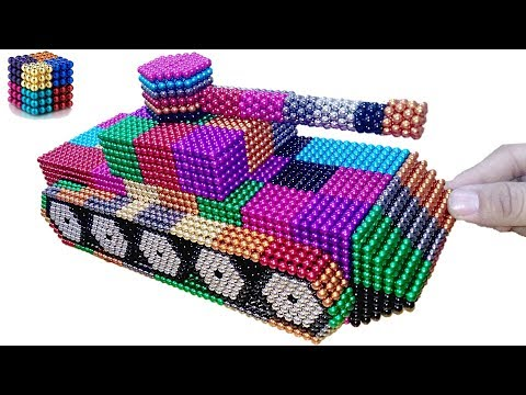 DIY How to Making Rainbow tank with Magnetic Balls | Magnetic Boy