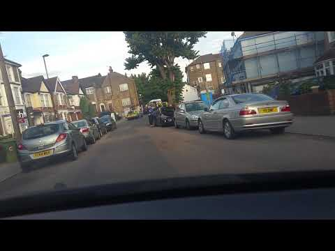 Bensham Manor Lane. Police stop driver/vehicle at the junction with Whitehorn Road Croydon/London.