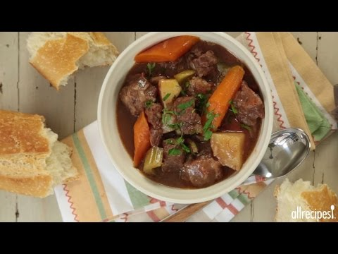 How to Make Slow Cooker Beef Stew | Slow Cooker Recipes | Allrecipes.com - YouTube