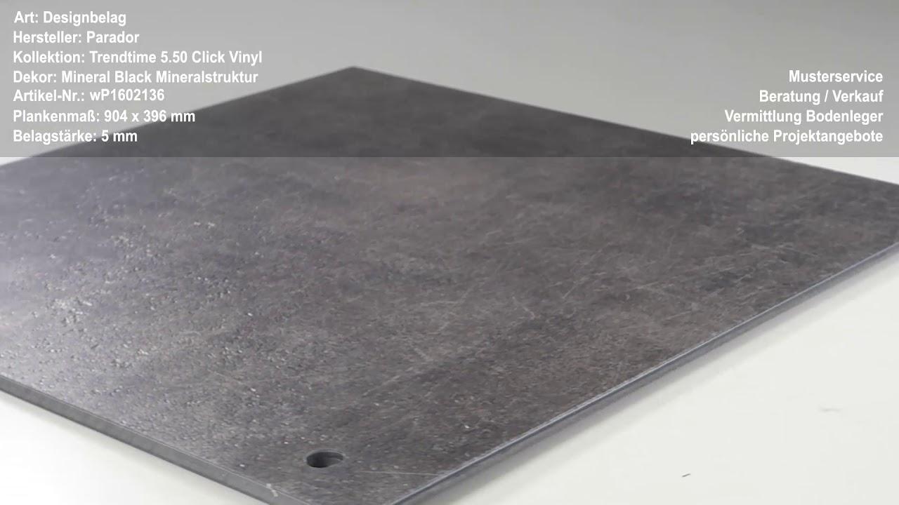 Parador trendtime click vinyl mineral black mineralstruktur