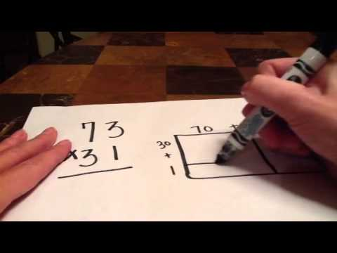 Double Digit Multiplication Using the Area Model