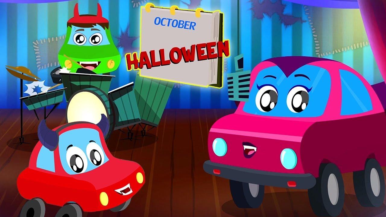 ma họ yêu thích để đi bộ | Little Red Car vườn ươm vần điệu và trẻ em video | Ghosts Love To Walk