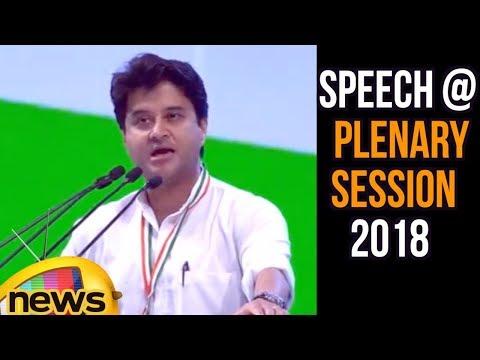 Jyotiraditya Scindia Speech at the Congress Plenary Session 2018   Mango News