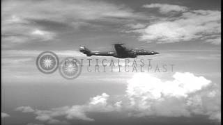 Operations of the US Navy Early Warning Squadron 4 (Hurricane Hunters) HD Stock Footage