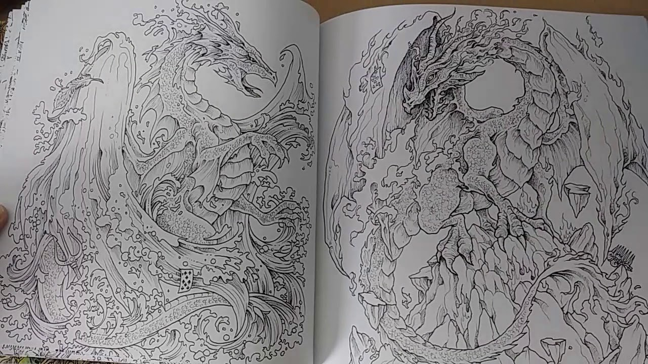 Kerby rosanes mythomorphia coloring book flip through and review