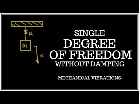 Free Vibrations of a Single Degree of Freedom Problem (Simple Harmonic Oscillator)
