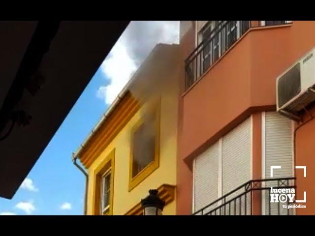 VÍDEO: Incendio en la calle Arriera. Seis familias han tenido que ser desalojadas.