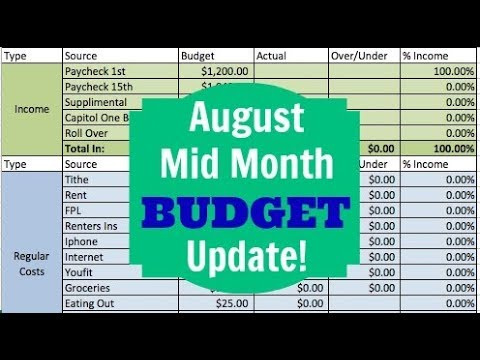 AUGUST MID-MONTH ZERO BASED BUDGET | Dumping Debt Fridays | DAVE RAMSEY INSPIRED