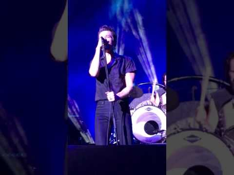 Brandon joking and giggling during A Dustland Fairytale - The Killers - Radio 104.5 10th Birthday C