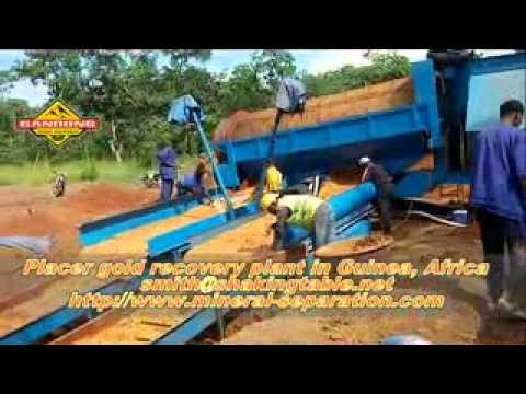 Placer gold trommel recovery plant in Guinea Africa