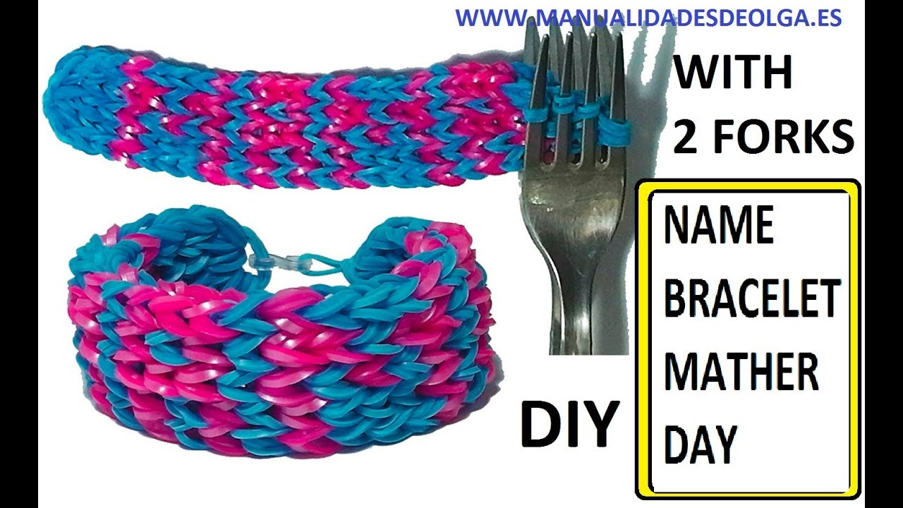 How To Make Name Bracelet Without Rainbow Loom With Mama