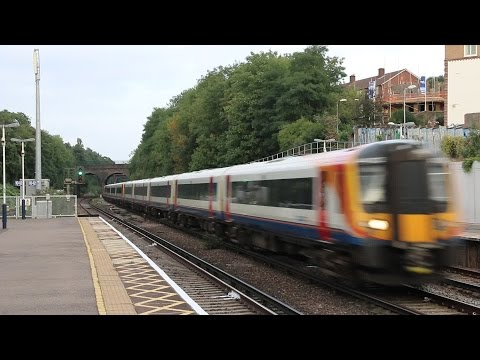 South West Trains at Surbiton with Lots of Platform Announcements