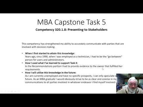 Task 5, WGU, Capstone, MBA - YouTube