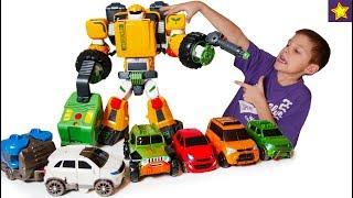 Тоботы Трансформеры Большой Тобот Tрактор и 5 машинок Tobot Transformers