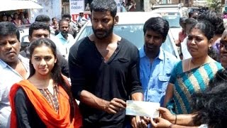 Sri Divya extends her helping hands to Vishal | Maruthu M-o-v-i-e | Hot Tamil CInema News