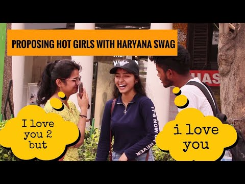 Haryanvi Swag proposing cute girls !! PRANK IN INDIA !! PRANKWALA