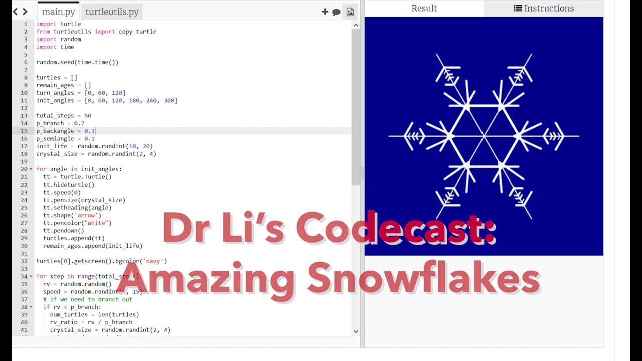 Drawing Amazing Snowflakes in Python