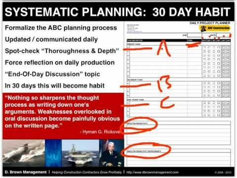 ABC Daily Planning for Construction Contractors
