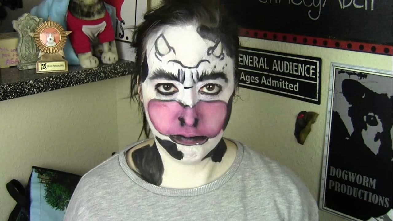 COW MONSTER MAKEUP - YouTube