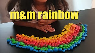 Learn colour with M&M rainbow, M&M candy, fun with daddy from Ana's  funky land 🌈🌈🌈🌈