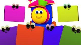 bob o trem | cores para crianças | aprenda cores | Bob The Train | Learn Colors With Bob | Kids song
