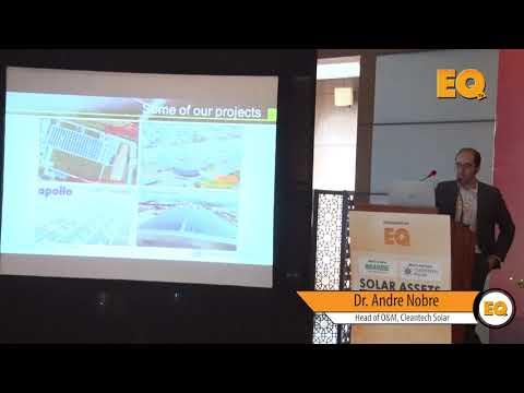 Dr. Andre Nobre, Head O&M, Cleantech Solar at EQ Solar Assets Conference, Delhi