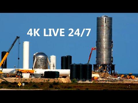 4K Cam 24/7 SpaceX Boca Chica & Crew Dragon Demo-2 Live