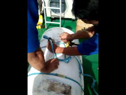 inspection and checking life raft on board part 2