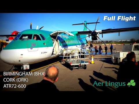 Aer Lingus Full Flight | Birmingham to Cork |  ATR72-600 *With ATC*