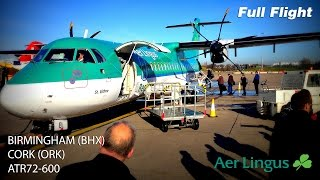 Aer Lingus Full Flight | Birmingham to Cork |  ATR72-600 *With ATC*