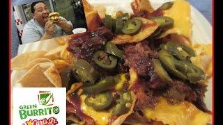 Green Burrito@ Carl's Jr.® Bbq Brisket Nachos Review!