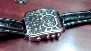 обзор трехзонных часов v6 new russian pilot dial men 3 time zone wrist watch analog s leather black