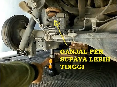 suspensi all new kijang innova grand avanza 2015 bongkar pasang shock per ganjal spacer belakang