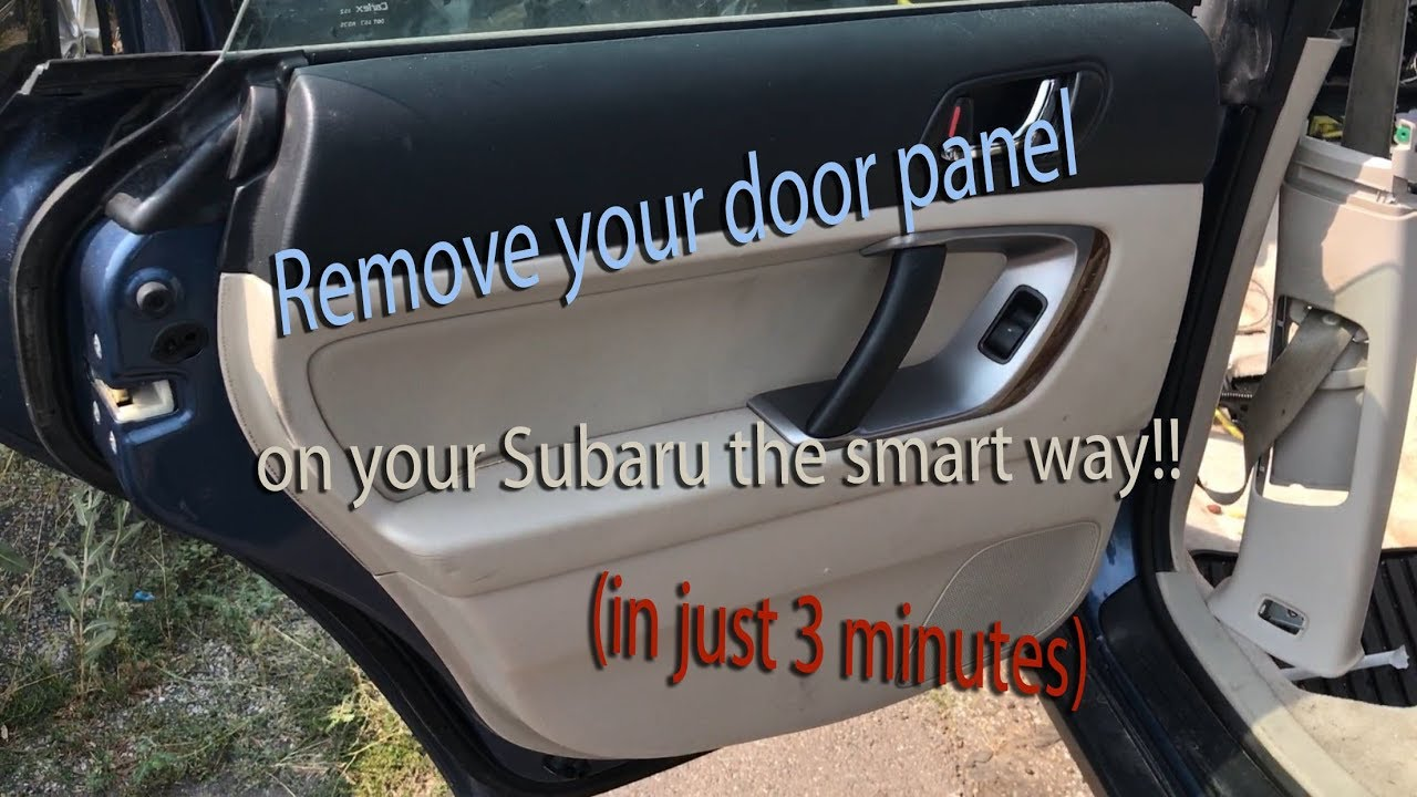 Remove your door panel on a Subaru in just 3 minutes & Remove your door panel on a Subaru in just 3 minutes - YouTube