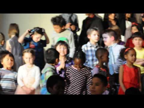 Sofija's grade 1 school Christmas concert in Edmonton 2016